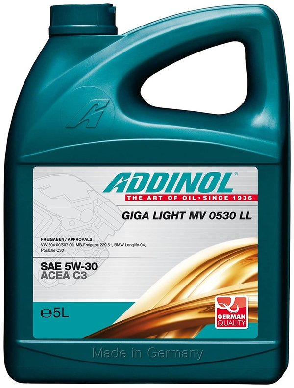 ADDINOL Motoröl 5W30 Giga Light MV 0530 LL